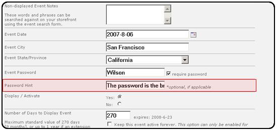 password hints